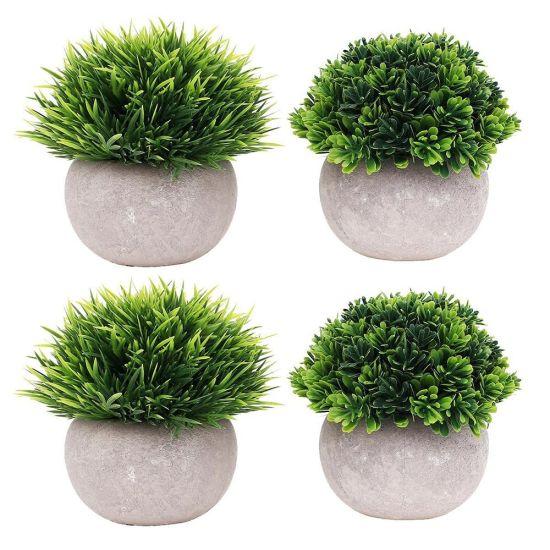 Wholesale Mini Artificial Plant Grass Potted Plant for Home Decoration
