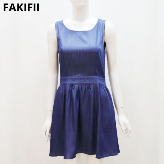 Fakifii Factory 2021 Summer OEM/ODM Women Clothes Sleeveless Sexy Prom Evening Fashion Dresses with Back Big Bowknot