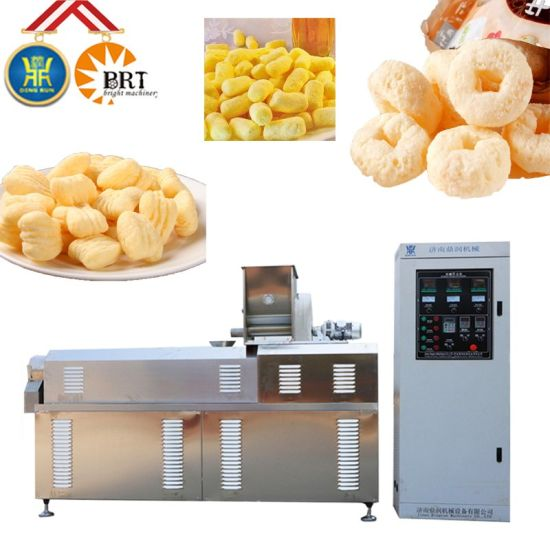 Automatic Core Filling Breakfast Cereal Flake Bread Crumb Extruder Slanty Cheese Ball Puff Stick Corn Snack Food Making Processing Equipment Extrusion Machine