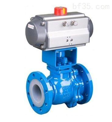 API Cast Steel/ Carbon Steel/ Stainless Steel Pneumatic Actuated Fluorine Lined Ball Valve