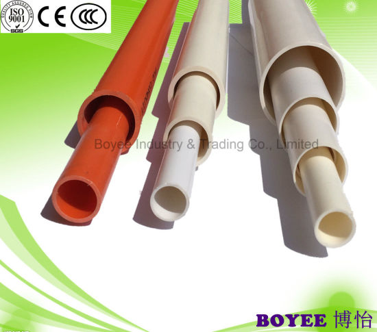 Raw Material Made PVC Plastic Pipe