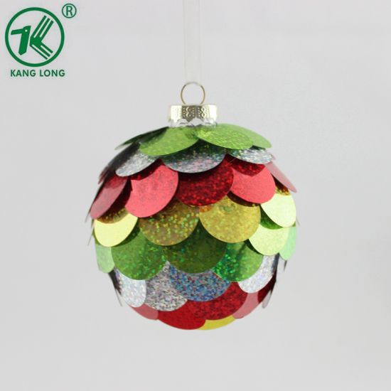Wholesale Cheap Christmas Decorative Colored Glass Plastic Hanging Balls pictures & photos