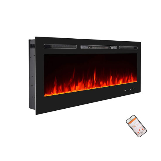 50 Inch Orange Colors Flame Wall Mounted Electric Fireplace with Remote Control pictures & photos