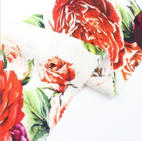 65% Viscose 19% Linen 16% Rayon Digital Printing/Printed Woven Fabric for Dress Skirt Shirt