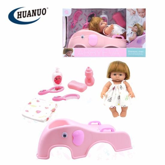 Girl Shampoo Chair Toy Play Hair Beauty Set Toy 23 Inch Silicone Dolls