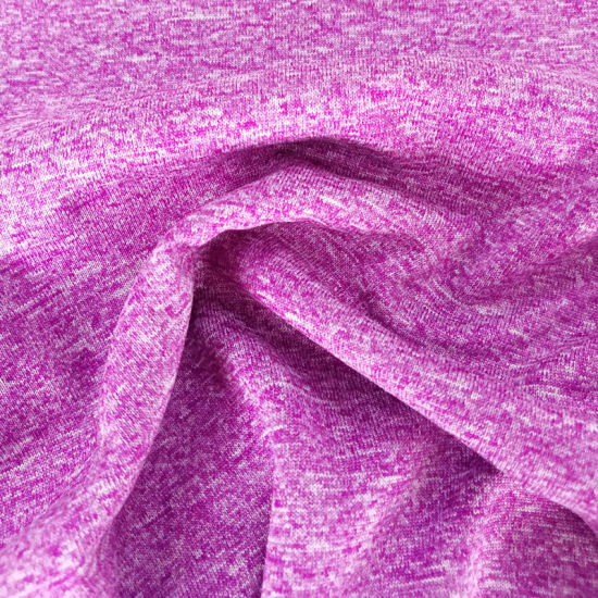 Soft Sports Fashion Breathable Knitting Cationic Jersey Garment Knitted Fabric pictures & photos