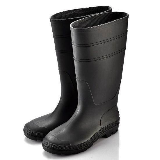 Rubber Waterproof Safety Rain Boots Steel Top