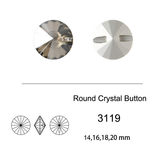 Flat Back Crystal Wholesale Rhinestones Buttons for Garment