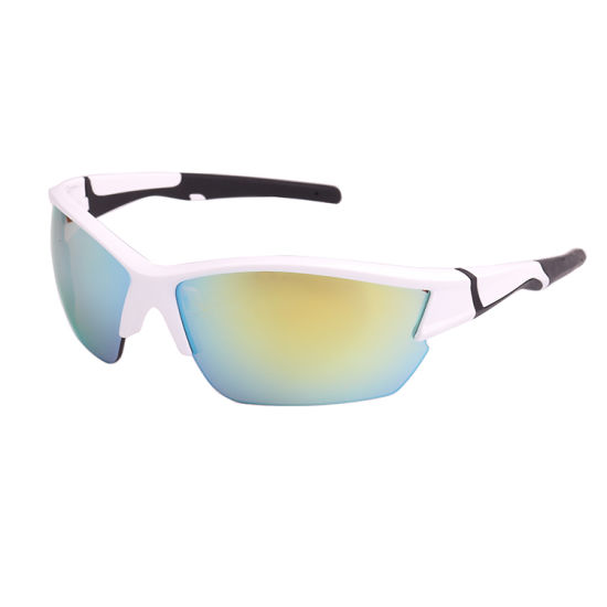 Yellow Mirror Double Injection Sport Design Sunglass pictures & photos