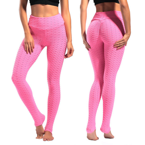 Fitness Leggings Women Polyester Ankle-Length Standard Fold Pants Elasticity