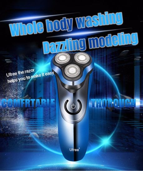Three Heads Floating Waterproof Classicc Automatic Men Shaver Sideburns Trimmer Shaving Razor