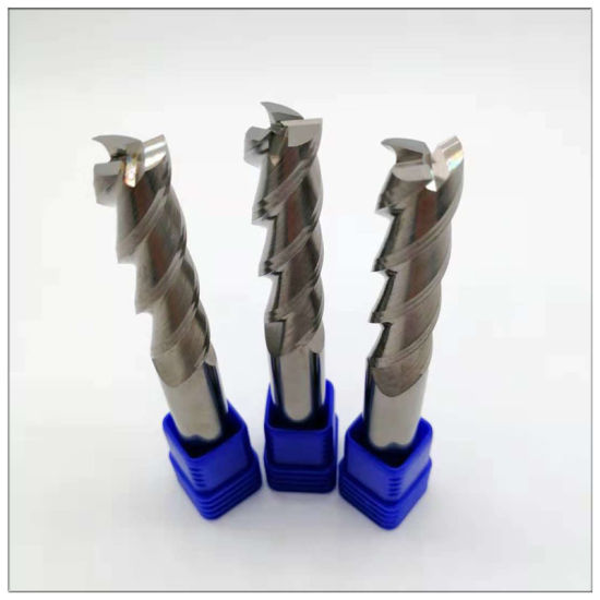 3-Flute Flattened Carbide End Mills for Machining Aluminum Alloy pictures & photos