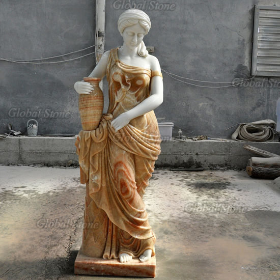 Western Style Life Size Marble Beautiful Lady Statue Sculptures (GSS-254) pictures & photos