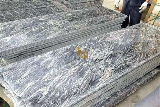 China Colombo Juparana Granite White/Grey Shandong Wave Granite Slabs Tiles