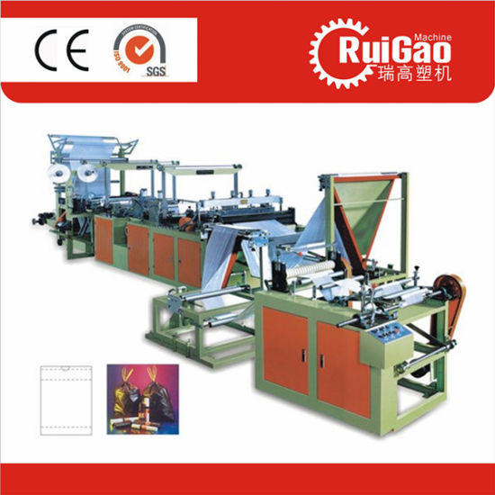 Heavy Duty Garbage Trash Ribbon Throught Bag Making Machine Price pictures & photos