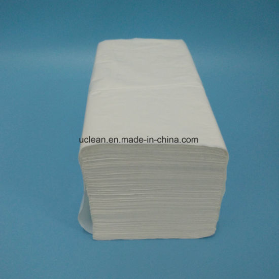 Virgin Wood Pulp 150sheets V Fold Paper Towel pictures & photos
