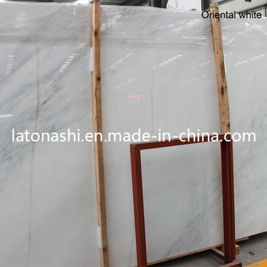 Chinese Natural Stone Polished Pure White Marble For Floor Flooring