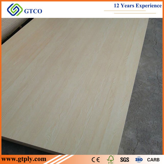 1220*2440mm Wooden Color Solid Color Melamine Laminated Commercial Plywood Used for Furniture
