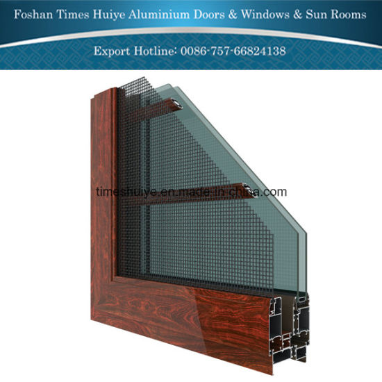Aluminum Anti-Mosquito Window with Tempered Glass pictures & photos