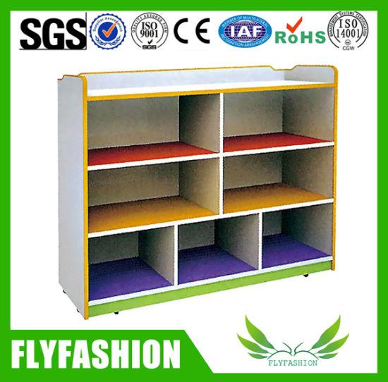 Wooden Child Furniture Toy Storage Cabinet Designs (SF-120C)