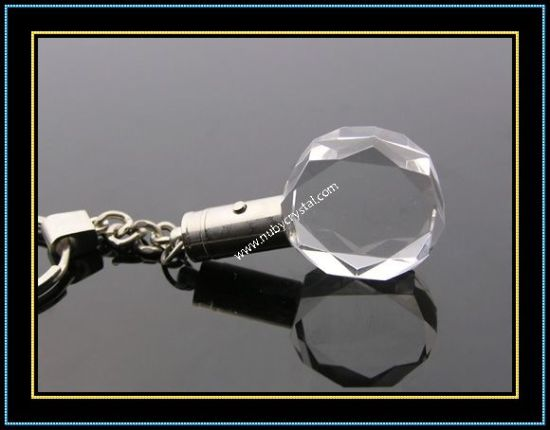Torch Light Crystal Keyring with LED Light (kc14) pictures & photos