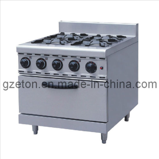 4-Burner Gas Stove with Gas and Electric Oven pictures & photos