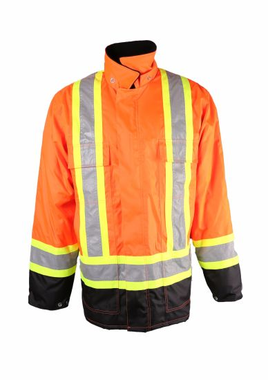 d1fb935c4692 China Winter Hi Vis Padded Jacket PPE Coat with Reflective Tape ...