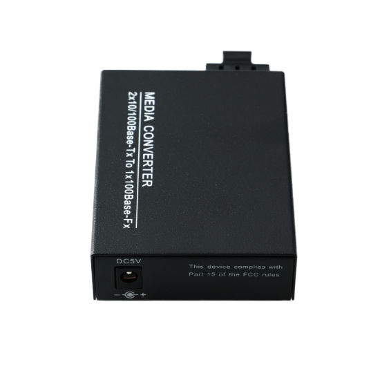 1 Fiber 2 RJ45 Port Optical Fiber Media Converter 100m Sm 20km (MC1001SC) pictures & photos