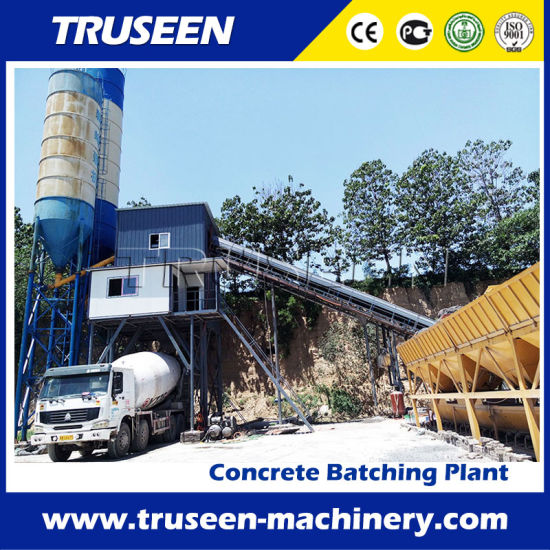 Belt Conveyor Type 60m3/H Concrete Batching Plant Construction Machine