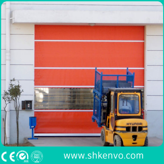 Industrial Automatic PVC Fabric Electric High Speed Performance Fast Action Rapid Rise Overhead Quick Roll up or Roller Shutter Door for Exterior or Interior