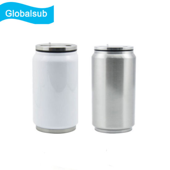 china sublimation coke can shaped stainless steel water bottle with