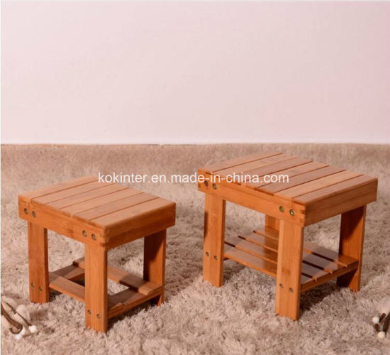Bamboo Plywood Bamboo Kid Stool Bamboo Step Stool pictures & photos