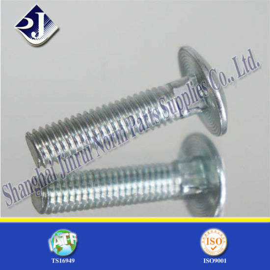 China White Zinc Plated Elevator Bolt Carriage Bolt China