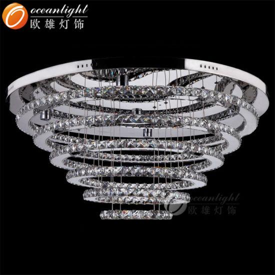 Luxury Design Crystal Stainless Steel Indoor Ceiling Light