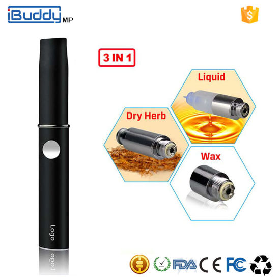 Ibuddy MP 350mAh 3 in 1 Vaporizer Liquid/Wax/Dry Herb Atomizer pictures & photos