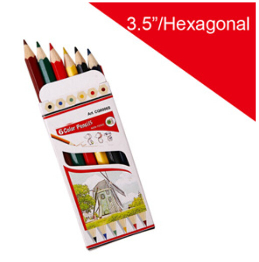 Wood Color Pencil with Hexagonal Barrel pictures & photos