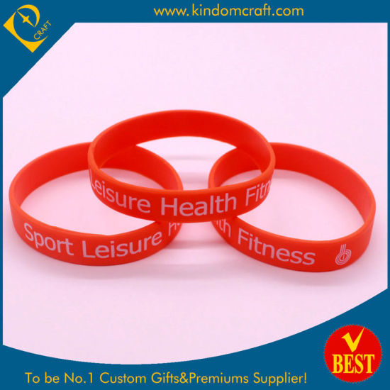 Cheap Custom Sport Silicone Wrist Band for Activity pictures & photos