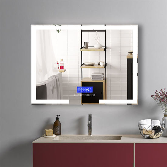 China Factory Customize Aluminium Frameless LED Bathroom Wall Mounted Mirror