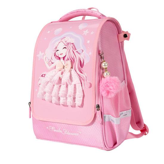 Wholesale Pink Brands Stylish Cute EVA PU Lace Girls School Bag Folding Packable Backpack Bagpack