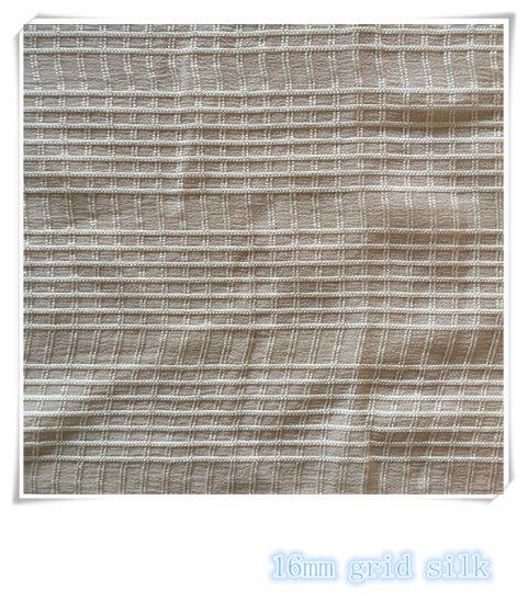 Grid Silk Fabric for Women's Dresses