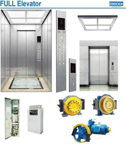 630kg 8 Person Passenger Elevator Lift with 10mm Ropes Parts Construction Elevator