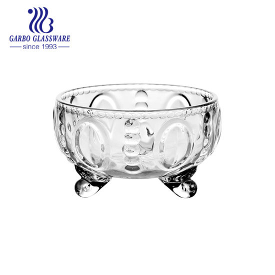 New Arrival MID-East Style Wholesale Glass Candy Pot (GB1648BY)
