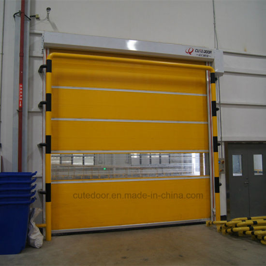 Industrial Durable PVC Fold up High Speed Door pictures & photos