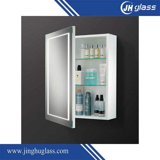 China Pvc Material Bathroom Mirror Medicine Cabinet With Led Lights