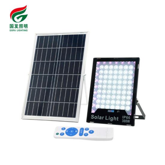 LED Flood Light RGB 500W IP65 Wireless Control Dimming Outdoor 60W 200W 300W 400W LED Solar Flood Light