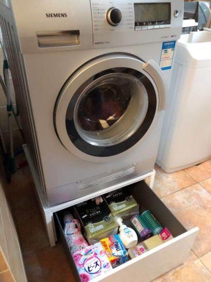 China White Laundry Pedestal Storage Drawer China Washing Machine