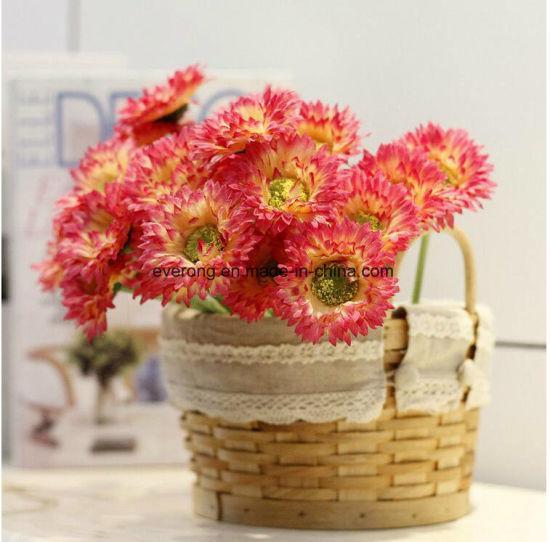 Wedding Table Centerpieces Wedding Decor Daisy Artificial Flowers Silk  Purple Chrysanthemum Stem