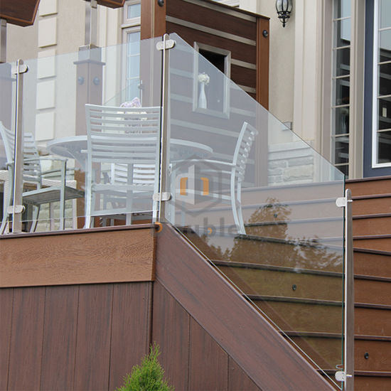Apartment Staircase Post Glass Railing Steel Glass Fence