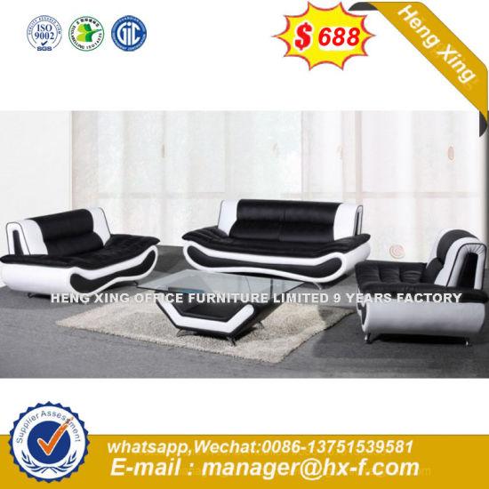 New Design White PU Leather Black Living Room Furniture (HX-8N2191)