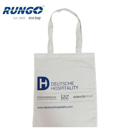 Promotional Custom Logo Printed White 10oz Recycled Organic Cotton Bags